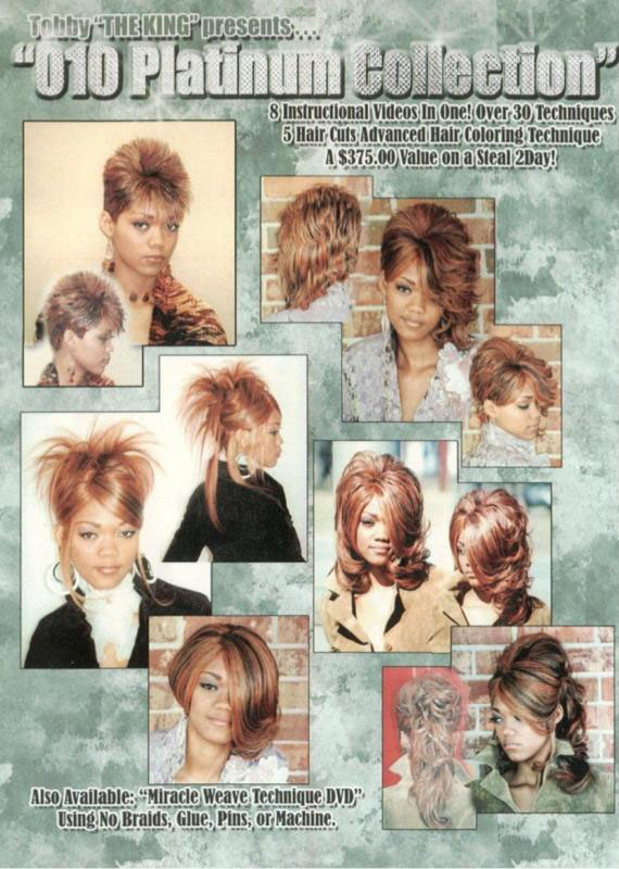 Celebrity Hairstylist Tobby The King Instructional Dvds And
